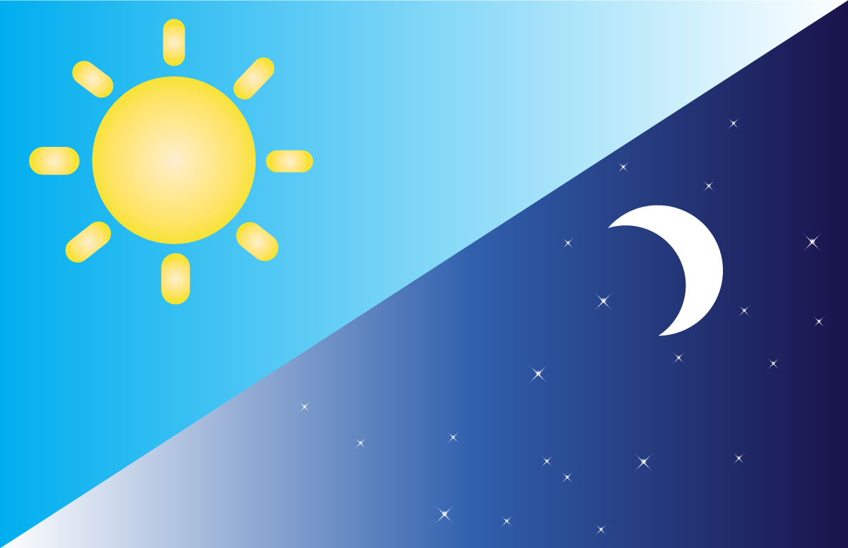 Image of a sun and moon for Evening Star and Morning Star Story Time